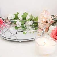Silver Mirrored Decorative Tray